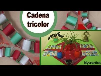 ^DIY:Cadena TRICOLOR + Decoración de MESA para Fiesta MEXICANA^^ VIVA MEXICO^^