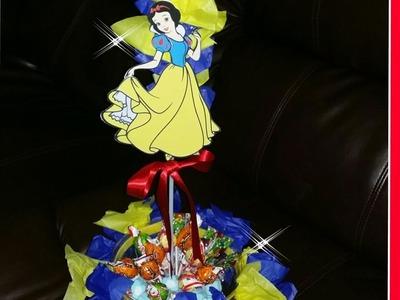 DIY Centro de mesa de dulces princesa blanca nieves