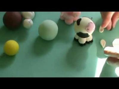DIY♥Elefante , vaca con Porcelana fría 2
