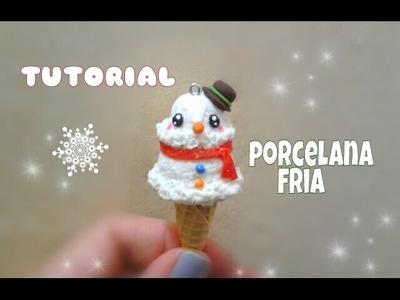 Helado muñeco de nieve PORCELANA FRIA