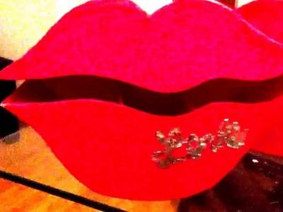 Organizador en forma de labios