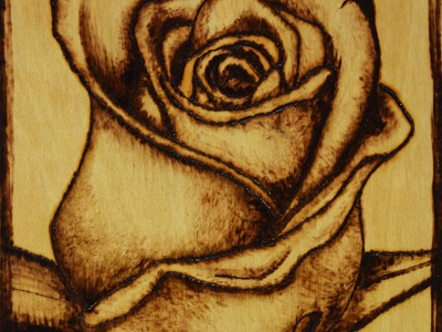 Pirograbado en Madera  para Principiantes paso a paso Rosa Flores