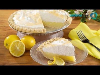 Receta der pie de limón con merengue. Receta de pie de limón. Receta Pay de limón