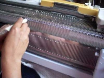 Tejer a maquina  leccion 1: INTRODUCCION AL TEJIDO A MAQUINA