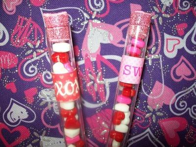 Tubos con Dulces. Colaboración San Valentin