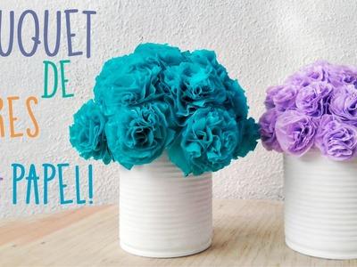 Bouquet de Flores de papel • Suuuuper FACIL • DIY :)