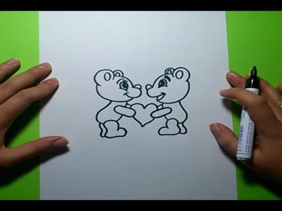 Como dibujar osos de peluche paso a paso | How to draw teddy bears