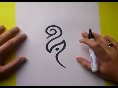 Como dibujar un tribal paso a paso 66 | How to draw one tribal 66
