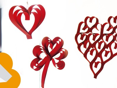 Corazócitos con tiras de papel. detalles de San valentin