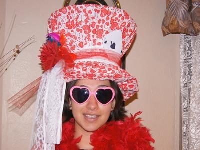 DIY- ELABORA UN SOMBRERO TIPO SOMBRERERO LOCO Alice in wonderland!
