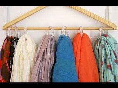 Idea Organizador Pañuelos.Bufandas