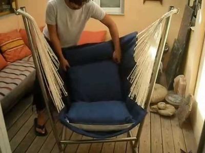 Montaje de un sillon colgante