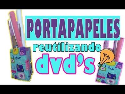 PORTAPAPELES con DVD`S