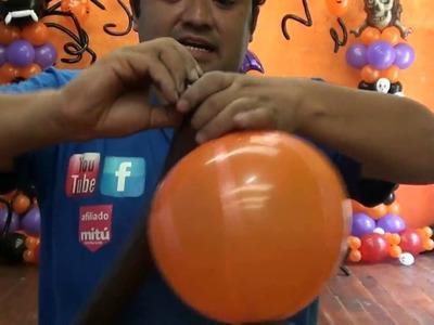 Arbol de calabazas halloween globos chasty