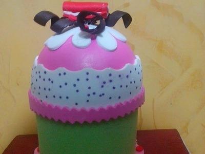 Cajita cupcake en foamy