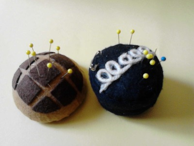 Como hacer 2 alfileteros   pincushion