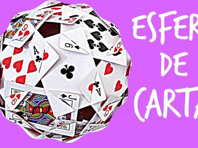 Cómo hacer una esfera con cartas. How to make a sphere with cards.