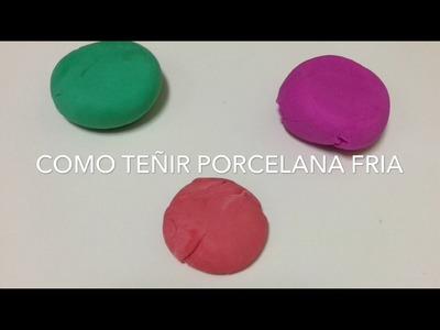 Como teñir porcelana fría sin manchar y facil