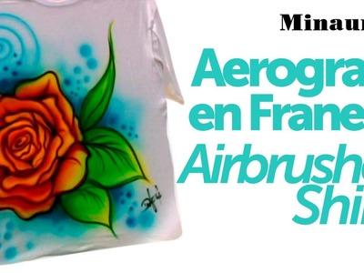 DIY - Aerografía en Telas ( Fabrics Airbrush Painting )