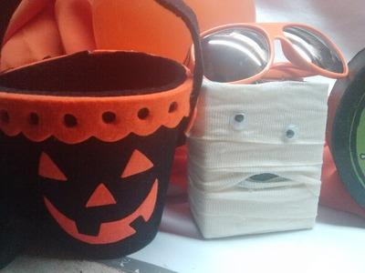 DIY cajita de momia para Halloween  reciclando envases de tetra pak