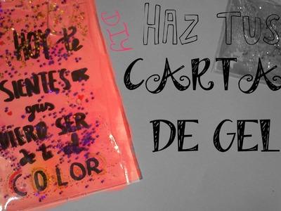DIY CÓMO HACER CARTAS DE GEL IDEA REGALO