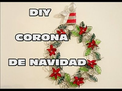 DIY HACER CORONA DE NAVIDAD CON LUCES SIN CABLES, DIY CHRISTMAS WREATH WIRELESS