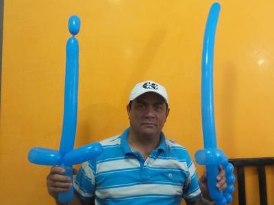 Globoflexia: Como hacer una espada con un globo. 2 tipos de espada