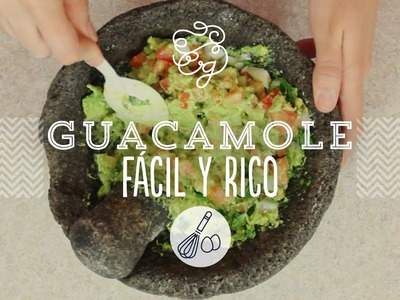 Guacamole re fácil - receta mexicana | Craftingeek*