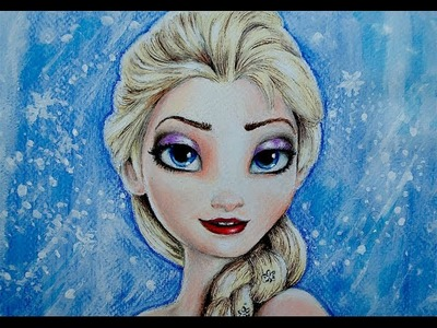 HOW TO DRAW ELSA FROM FROZEN. CÓMO DIBUJAR A ELSA DE FROZEN