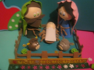 Nacimiento Pesebre belen navideño en Foamy gomaeva termoformado 3d Artfoamicol  Parte 2