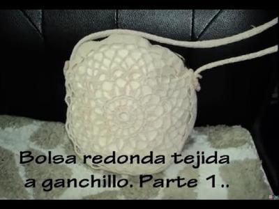 PARTE 1 DE 4: BOLSA CIRCULAR TEJIDA A GANCHILLO.