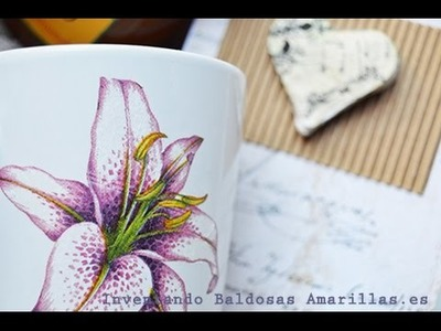 Tutorial decoupage: decora con papel