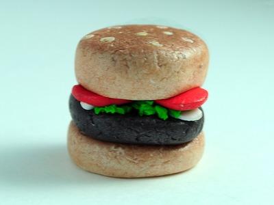 TUTORIAL Hamburguesa de Fimo.Arcilla Polimérica | Hamburguesa (Manualidades Fáciles) # 3