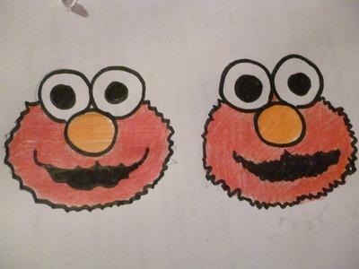 Aprende a dibujar a Elmo Facil