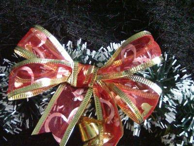 Christmas ribbon bow subtitle.moño navideño de cinta subs. proyecto 64