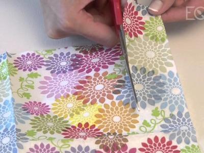Como aplicar decoupage con servilletas y stencil? Eq Arte