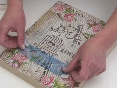 Como aplicar laminas de decoupage con adhesivo multiproposito y mod podge? Eq Arte
