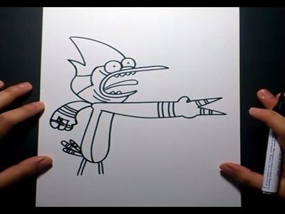 Como dibujar a Mordecai paso a paso 3 - Un show mas | How to draw Mordecai 3 - Regular show