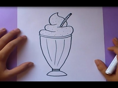 Como dibujar un batido paso a paso | How to draw a smoothie