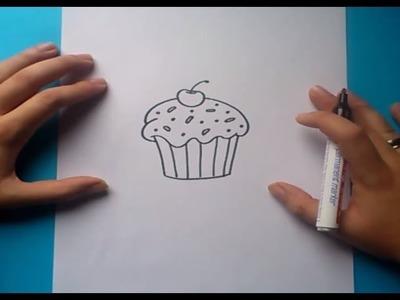 Como dibujar un pastel paso a paso 3 | How to draw a cake 3