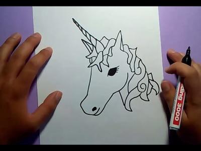 Como dibujar un unicornio paso a paso | How to draw a unicorn