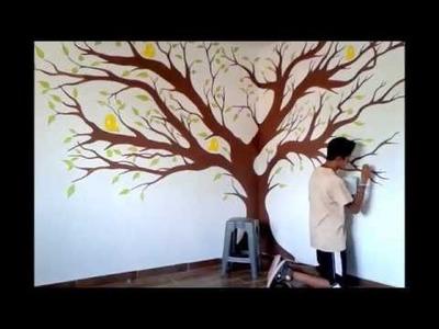 Como Pintar un Arbol. Drawing a tree