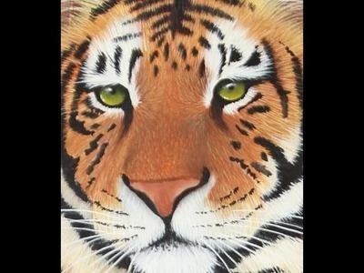 Como pintar un tigre - Pinceles - Acrilicos - Mabel Blanco