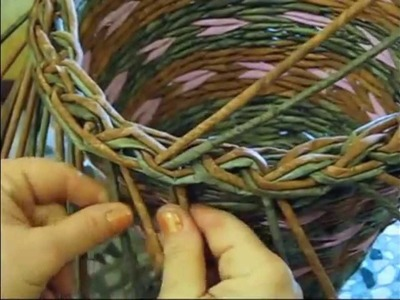 Como terminar la cesteria. Parte 5.2