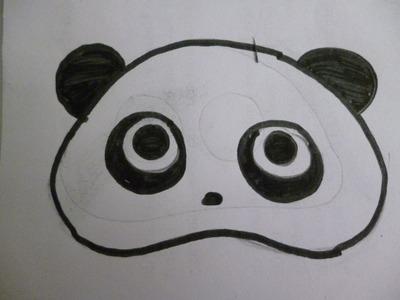 Dibuja un pandita kawaii Aprende a Dibujar Dibujin Dibujado