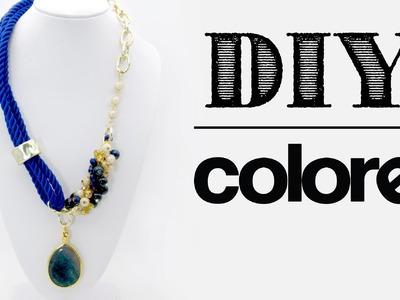 DIY: Collar Hilo de Seda y Cadena | Colore Accesorios