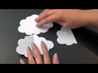 DIY:Decora tu cuarto con globos y nubes 3D-Miranda