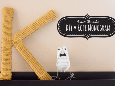 DIY Rope Monogram - Monograma de Soga (Weddings - Bodas)