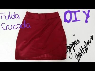 Falda Drapeada Asimetrica DIY How To Make a Draped Skirt