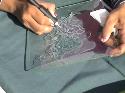 HOW TO CARVE GLASS TRAY WITH DREMEL OR SIMILAR COMO TALLAR BANDEJA DE CRISTAL CON DREMEL O SIMILAR